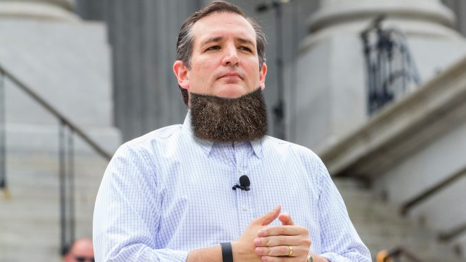 Hoping to Ditch Image as Creepy Weirdo, Ted Cruz Tries out Neckbeard