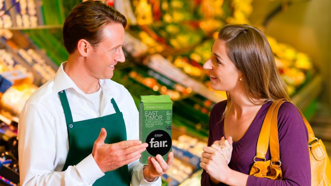 Clerk Reassures Woman That Coffee Fair Trade for All Parties Except Customer