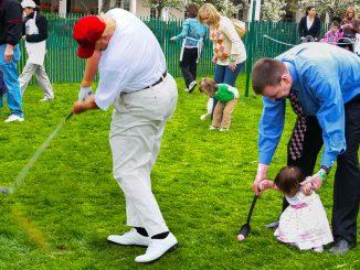 Trump Helps Hide Easter Eggs for White House Egg Roll