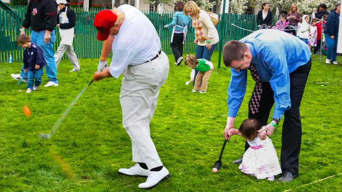 Trump Helps Hide Easter Eggs for White House Egg Roll